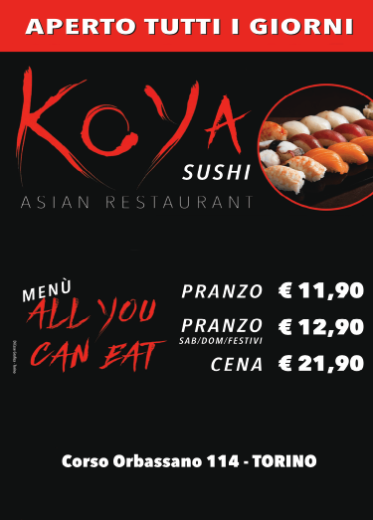Koya sushi Torino - all you can eat